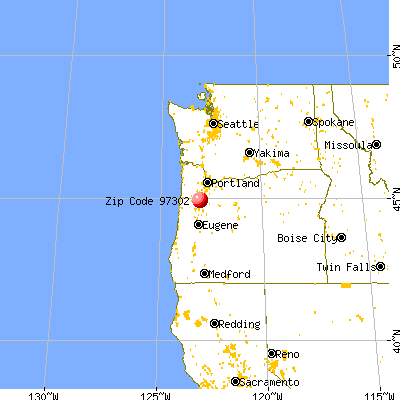 Salem, OR (97302) map from a distance