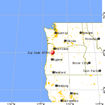 Keizer, OR (97303) map from a distance