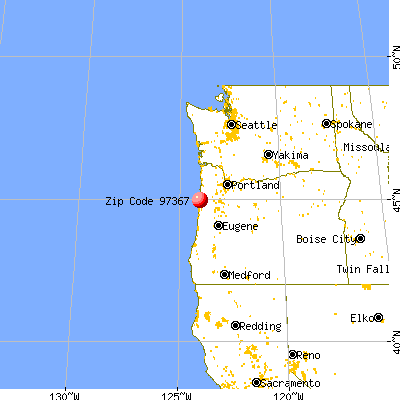Lincoln City, OR (97367) map from a distance
