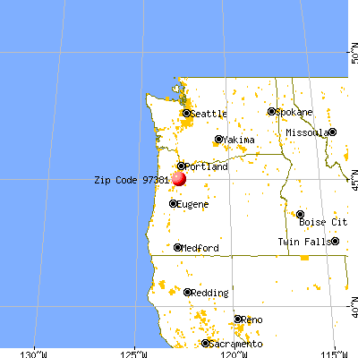 Silverton, OR (97381) map from a distance