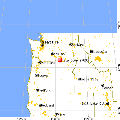 Hermiston, OR (97838) map from a distance