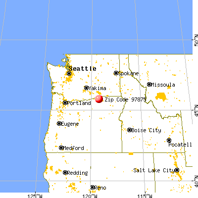 Stanfield, OR (97875) map from a distance