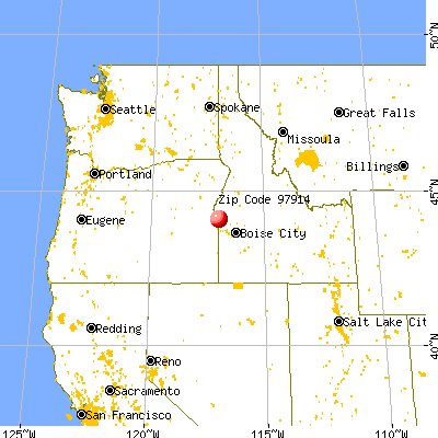 Ontario, OR (97914) map from a distance