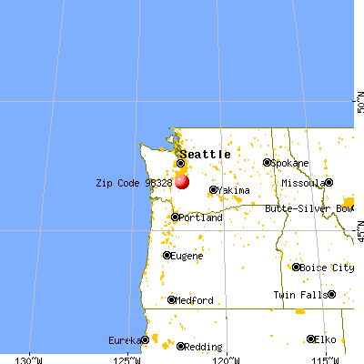Eatonville, WA (98328) map from a distance