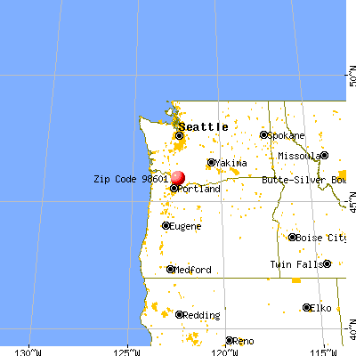 Amboy, WA (98601) map from a distance