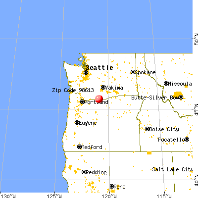 Centerville, WA (98613) map from a distance