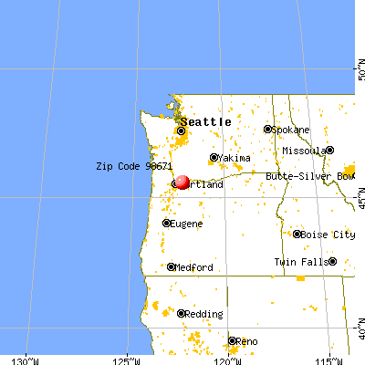 Washougal, WA (98671) map from a distance