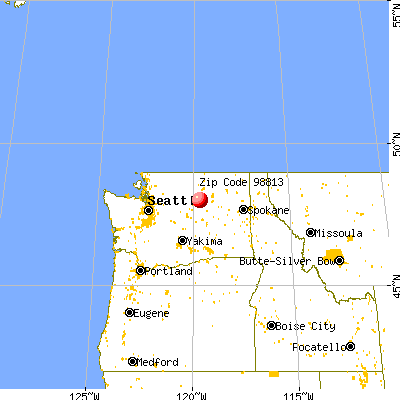 Bridgeport, WA (98813) map from a distance