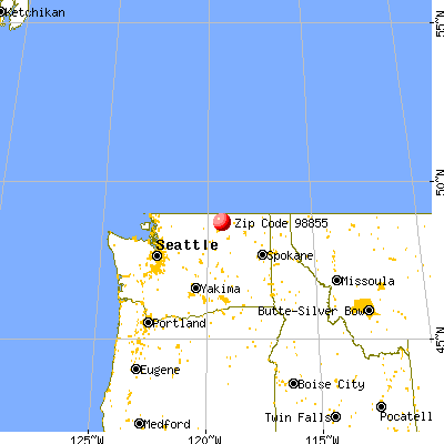Tonasket, WA (98855) map from a distance