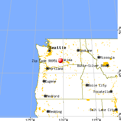 Wapato, WA (98951) map from a distance