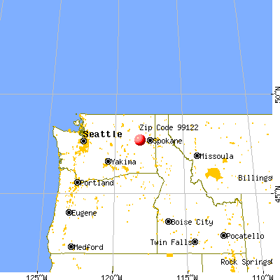 Davenport, WA (99122) map from a distance