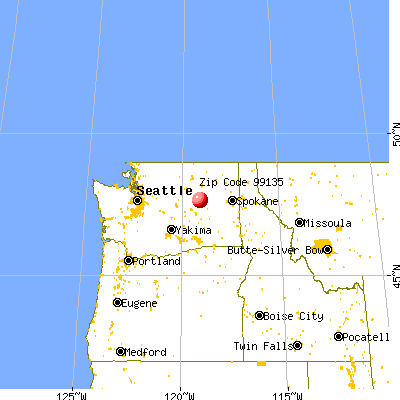 Hartline, WA (99135) map from a distance