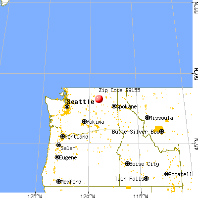 Nespelem Community, WA (99155) map from a distance