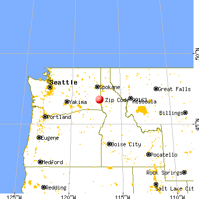 Pullman, WA (99163) map from a distance