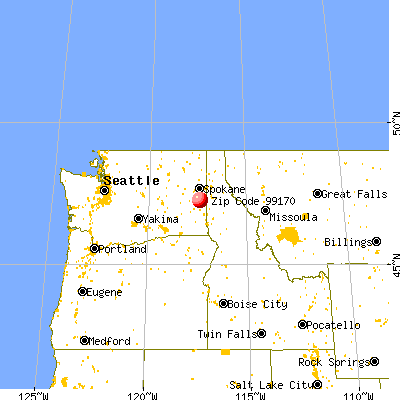 Rosalia, WA (99170) map from a distance
