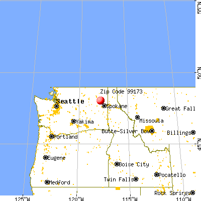 Springdale, WA (99173) map from a distance