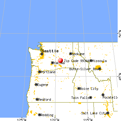 Othello, WA (99344) map from a distance