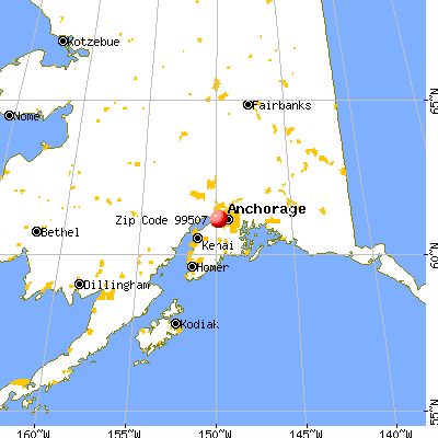 Anchorage, AK (99507) map from a distance