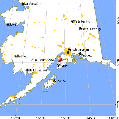 Cohoe, AK (99610) map from a distance