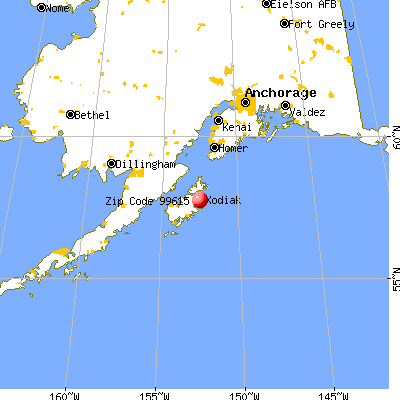 Aleneva, AK (99615) map from a distance
