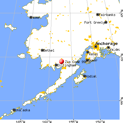 New Stuyahok, AK (99636) map from a distance