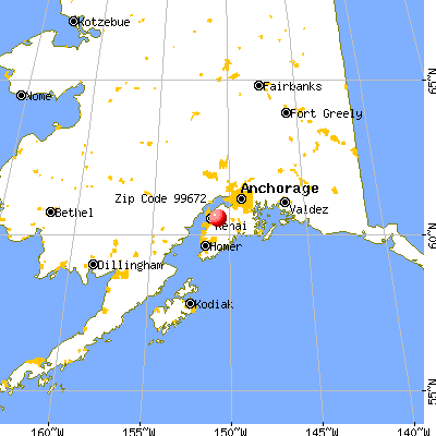Sterling, AK (99672) map from a distance