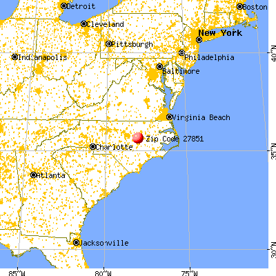 Lucama, NC (27851) map from a distance