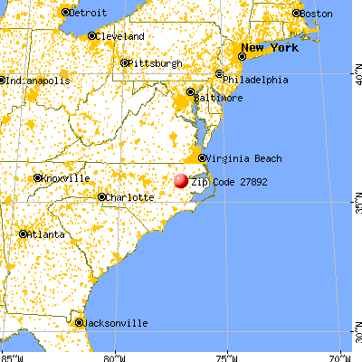 Williamston, NC (27892) map from a distance