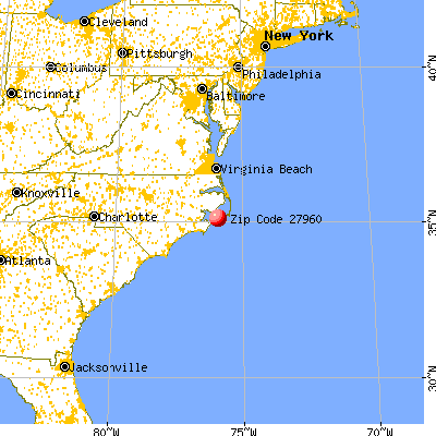 Ocracoke, NC (27960) map from a distance