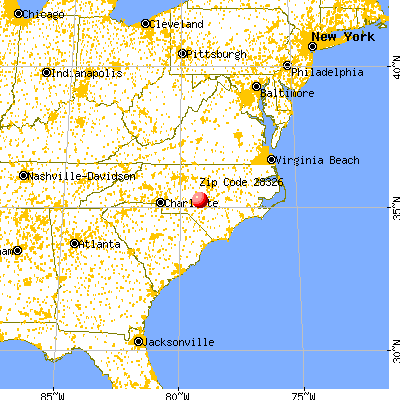 Cameron, NC (28326) map from a distance