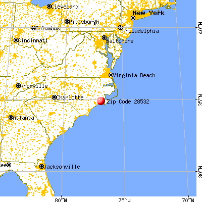 Havelock, NC (28532) map from a distance