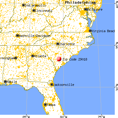 Bowman, SC (29018) map from a distance