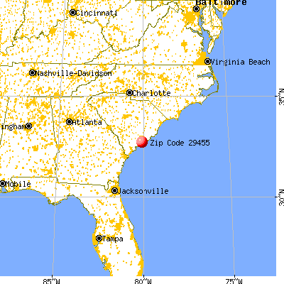 Charleston, SC (29455) map from a distance
