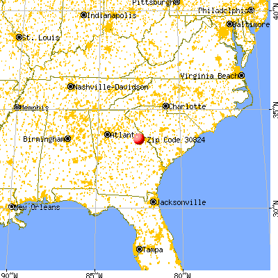 Thomson, GA (30824) map from a distance