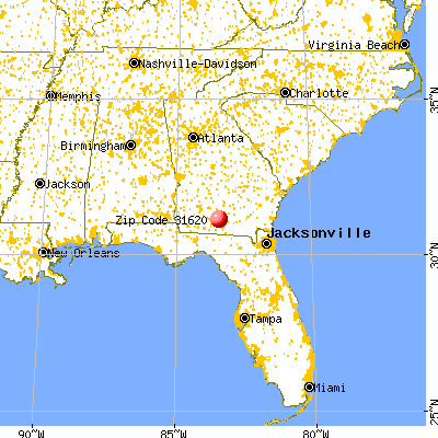 Adel, GA (31620) map from a distance