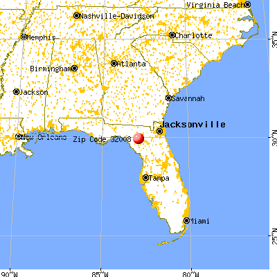 Branford, FL (32008) map from a distance