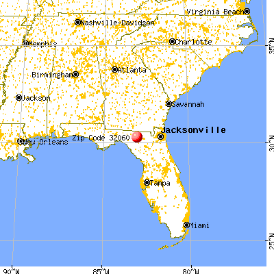 Live Oak, FL (32060) map from a distance