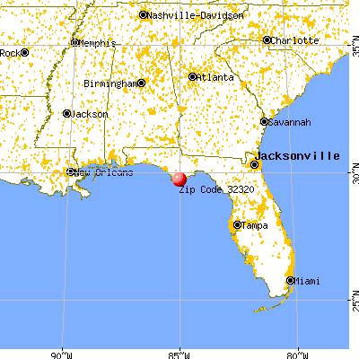 Apalachicola, FL (32320) map from a distance