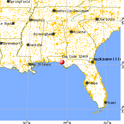 Lynn Haven, FL (32409) map from a distance