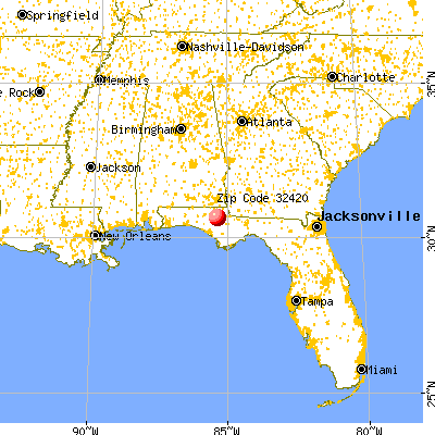 Alford, FL (32420) map from a distance