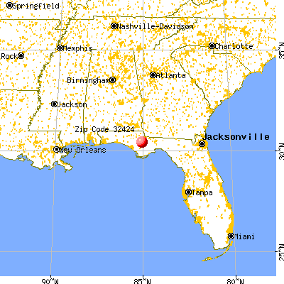 Blountstown, FL (32424) map from a distance