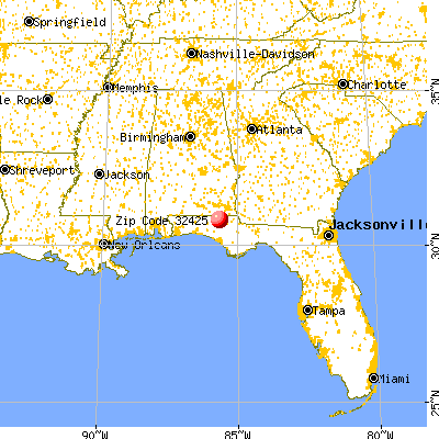 Bonifay, FL (32425) map from a distance