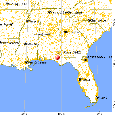 Chipley, FL (32428) map from a distance