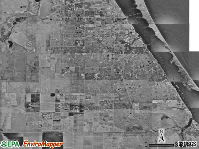 Zip code 32909 satellite photo by USGS