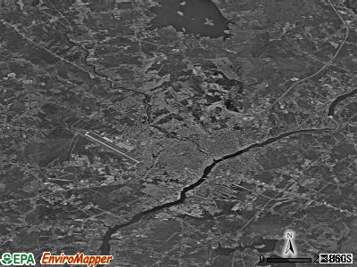 Zip code 04401 satellite photo by USGS