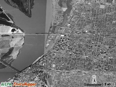 Zip code 38103 satellite photo by USGS