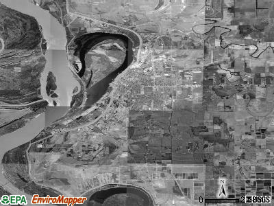 Zip code 38701 satellite photo by USGS