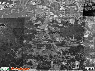 Zip code 39218 satellite photo by USGS