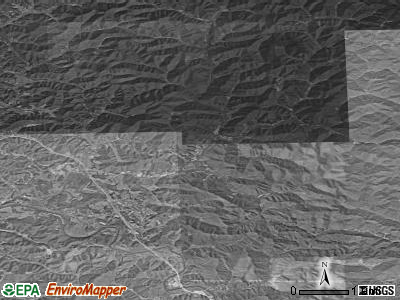 Zip code 40935 satellite photo by USGS