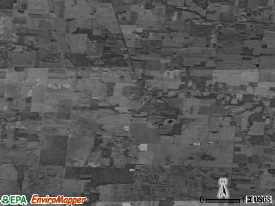 Zip code 43013 satellite photo by USGS